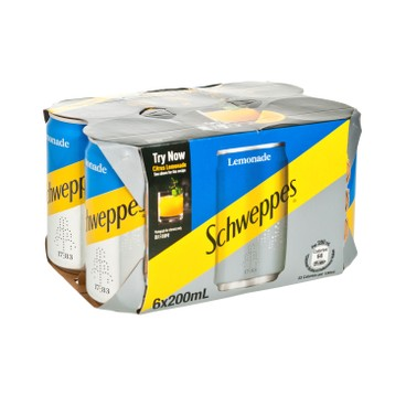 SCHWEPPES - Mini Can mixer Lemonade - 200MLX6