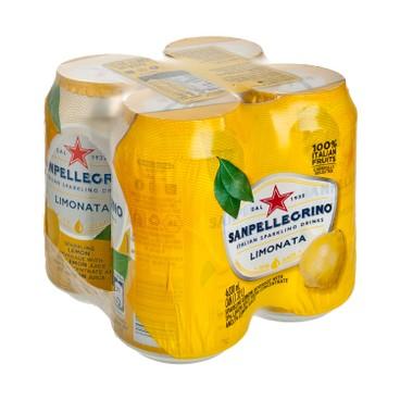 聖沛黎洛 - 有氣檸檬菓汁 - 330MLx4