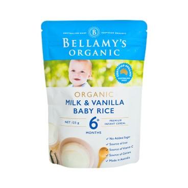 BELLAMY'S ORGANIC - Organic Milk Vanilla Baby Rice - 125G