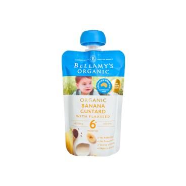 BELLAMY'S ORGANIC - Organic Banana Custard With Flaxseed - 120G
