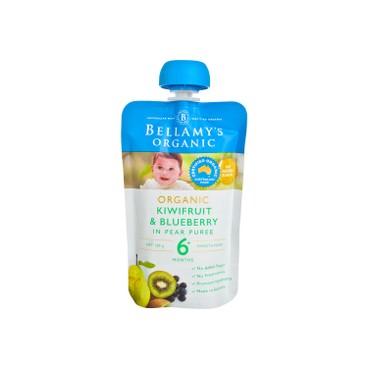 貝拉米 - 有機奇異果藍莓梨果泥 - 120G