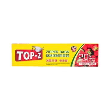 TOP-Z - ZIPPER BAGS GALLON SIZE - 20'S