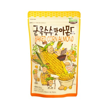 TOM'S FARM - Baked Corn Almond Almond Mixed With Corn Snack - 210G