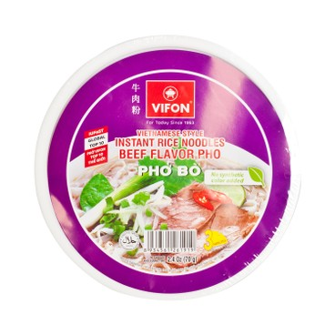 VIFON - Vietnamese Bowl Pho beef Flavor - 70G