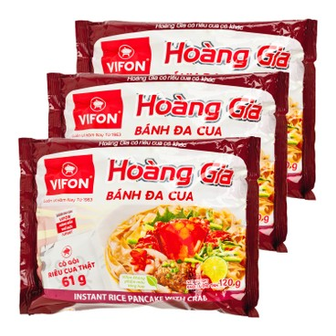 VIFON - Hoang Gia Vietnamese Pho crab Flavor With Real Meat - 120GX3