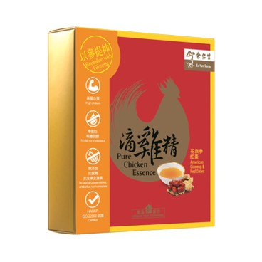 EU YAN SANG - Pure Chicken Essence American Ginseng Red Dates - 60MLX6'S