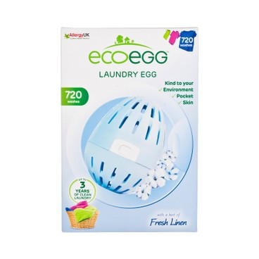 ECOEGG - 離子去污環保洗衣蛋-清新香味(720次裝) - PC