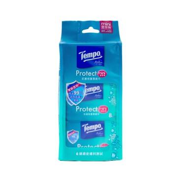 TEMPO - PROTECT MINI WET WIPES - 6'S