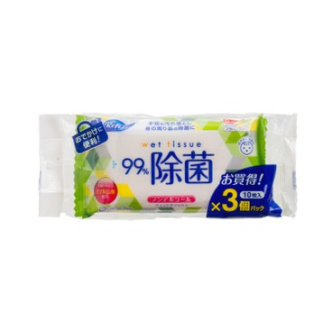 LIFE-DO.PLUS - Alcohol Free Hand Sanitizing Wips pocket Size - 10'SX3
