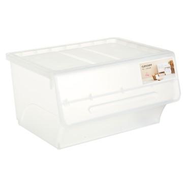 SANKA - FROQ揭蓋儲物膠箱-透白-大 - PC