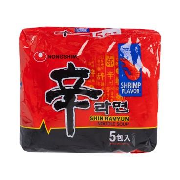 農心 - 辛拉麵 (鮮蝦味) - 120GX5