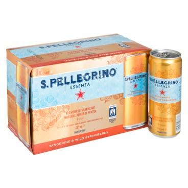 聖沛黎洛 - 有氣天然礦泉水-柑橘野莓味 - 330MLX8