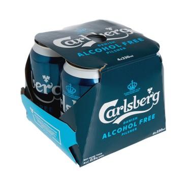 CARLSBERG - Alcohol Free Beer Can Pilsner - 330MLX4