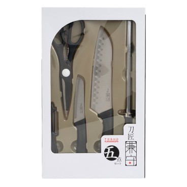 KANEMORI - 刀匠兼守五件入廚具套裝 - SET