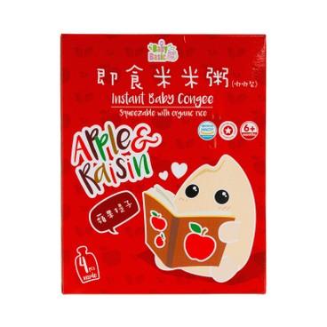 寶寶百味 - 即食有機米米粥(唧唧裝)(盒裝) - 蘋果提子 - 120G*4