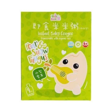 寶寶百味 - 即食有機米米粥(唧唧裝)(盒裝) - 水梨雪耳 - 120G*4