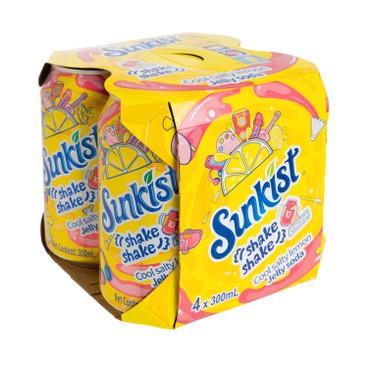 SUNKIST - Salty Lemon Jelly Soda - 300MLX4