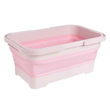 ISETO - 多用途摺疊籃- 粉紅色 - PC