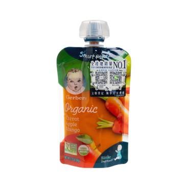 嘉寶 - 有機紅蘿蔔蘋果芒果蓉 - 3.5OZ