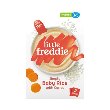 LITTLE FREDDIE - Simply Baby Rice With Carrot Probiotic - 160G