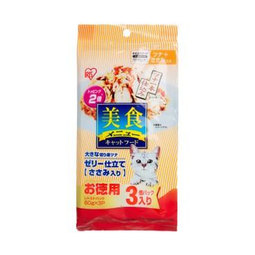 IRIS - 貓咪美食包 - 吞拿魚雞肉 - 60GX3