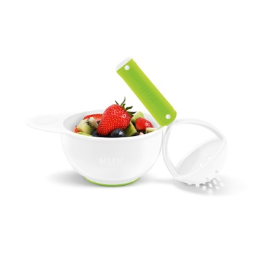 NUK - 手動式食物磨碎器連膠碗組合 - PC