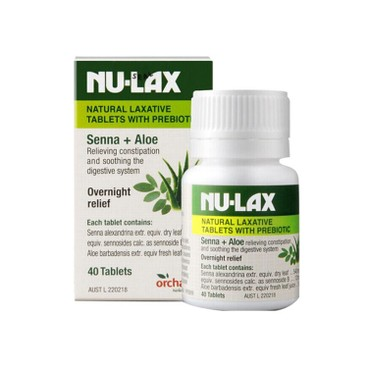 NU-LAX - Natural Laxative Tablets With Prebiotic - 40'S