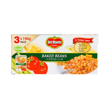 DEL MONTE - Baked Beans 3 In 1 Tetra Pack - 190GX3