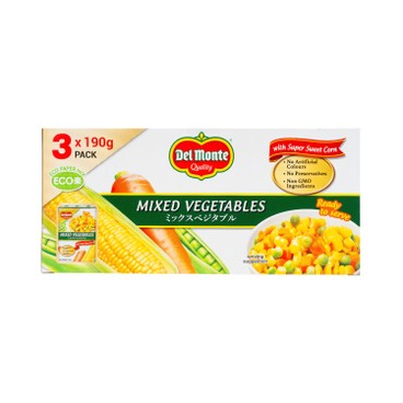 DEL MONTE - Mixed Vegetables 3 In 1 Tetra Pack - 190GX3