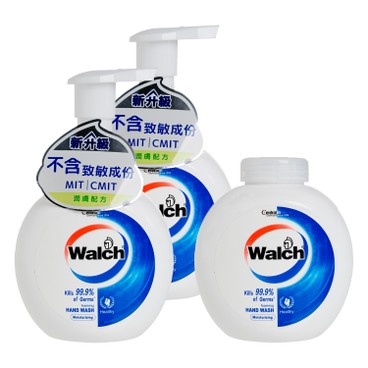 WALCH - Antibacterial Foaming Hand Wash twinpack With Refill Moisturizing - 280MLX3