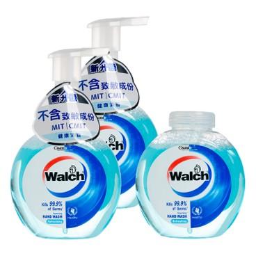 威露士 - 泡沫殺菌潔手液(孖裝)連補充裝-健康清香 - 280MLX3