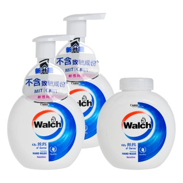 WALCH - Antibacterial Foaming Hand Wash twinpack With Refill sensitive - 280MLX3