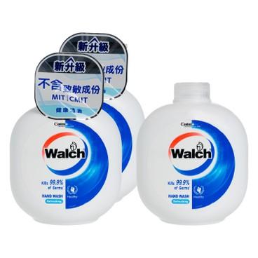 威露士 - 殺菌洗手液潤(孖裝)連補充裝-健康清香 - 450MLX3