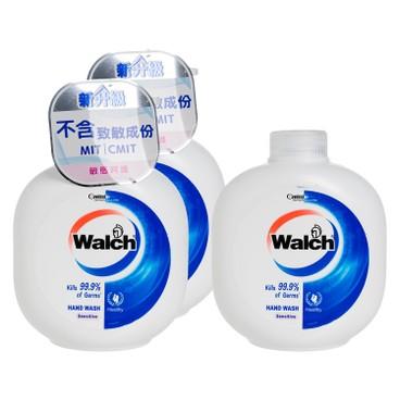 WALCH - Hand Wash Gel twinpack With Refill sensitive - 450MLX3