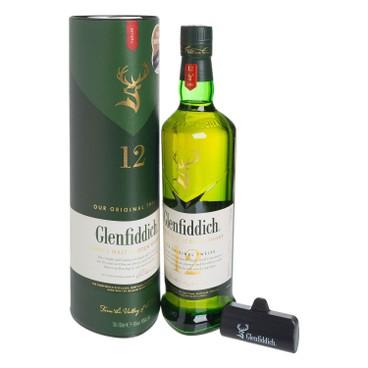 格蘭菲迪 - 12年單一純麥威士忌 套裝 (送迷你充電器) - 70CL