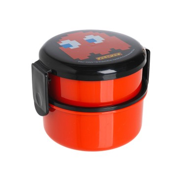 SKATER - Pac-Man雙層圓形便當盒(紅色) - PC