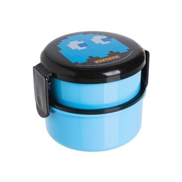 SKATER - Pac-Man雙層圓形便當盒(藍色) - PC