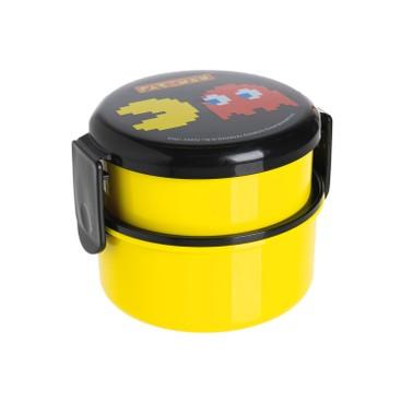 SKATER - Pac-Man雙層圓形便當盒(黃色) - PC
