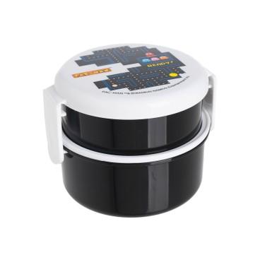 SKATER - Pac-Man雙層圓形便當盒(黑色) - PC