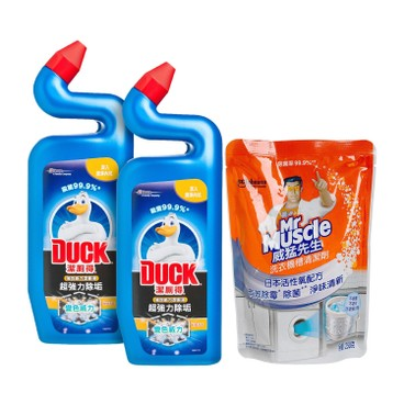 TOILET DUCK - Dckextrapwr Bluetwn Mm Wmc - 750MLX2+250G
