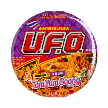 NISSIN - Ufo Stir Noodle tom Yum Goong Seafood Flavour - 78G