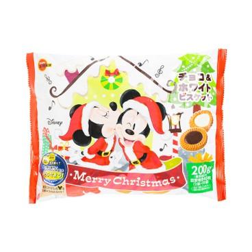 BOURBON 百邦 - 曲奇-朱古力及白朱古力味(迪士尼聖誕節版) - 190G
