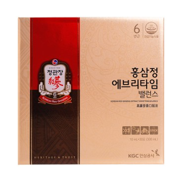 CHEONG KWAN JANG - Everytime Royal Red Ginseng Extract Balance - 10MLX30