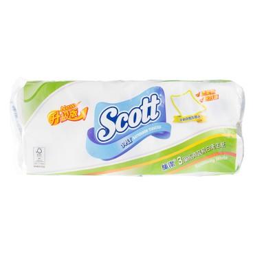 絲潔 - 三層經濟裝純白衛生紙 - 10'S