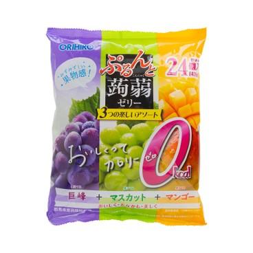 ORIHIRO - 蒟蒻啫喱-葡萄及青提及芒果味 (限定版) - 480G