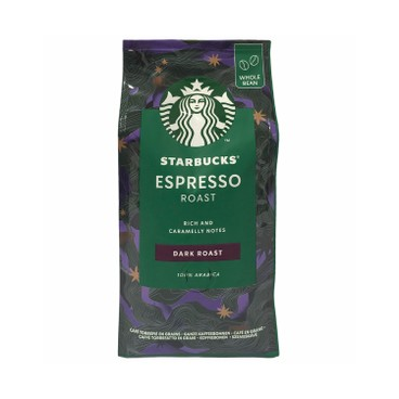STARBUCKS - Dark Espresso Roast Coffee Whole Beans - 200G