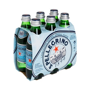 SAN PELLEGRINO - Sparkling Natural Mineral Water bottle - 250MLX6