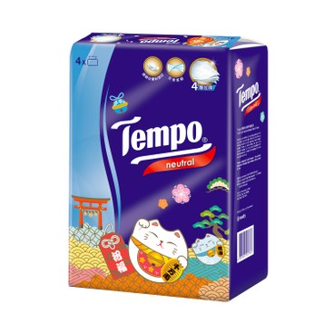 TEMPO - 4 ply Softpack Facial Tissue Neutral 2021 New Year Limited Edition - 4'S