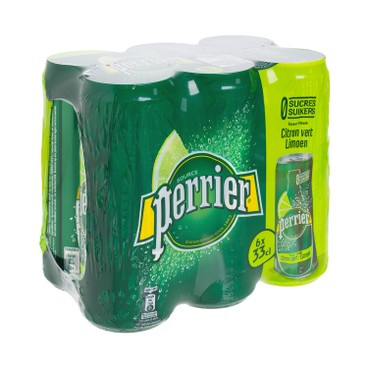 PERRIER(PARALLEL IMPORT) - Carbonated Natural Mineral Water can lime - 330MLX6