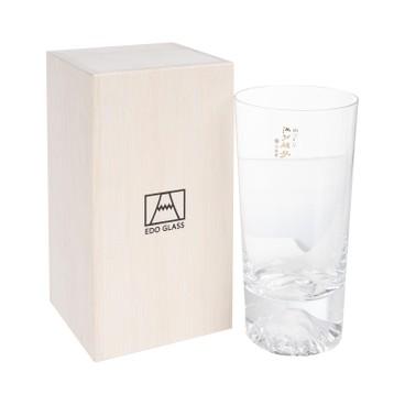 TAJIMA GLASS - Glass Mt fuji Tumbler With Wooden Box Set - SET